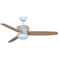 Craftmade Moorestad 2 Light 54-inch Outdoor Ceiling Fan in Matte White with Distressed Oak Blades MOR54MWW3