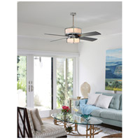 Craftmade MO56CH4 Midoro 56 inch Chrome with Black Blades Ceiling Fan in Matte Opal Glass, Blades Included alternative photo thumbnail