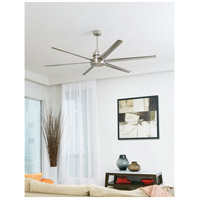 Craftmade MND72BNK6 Mondo 72 inch Brushed Polished Nickel with Brushed Nickel Blades Ceiling Fan, Blades Included alternative photo thumbnail