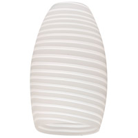 Craftmade N336FL Design-A-Fixture Spun White Satin 5 inch Mini Pendant Glass in Spun White Satin Glass