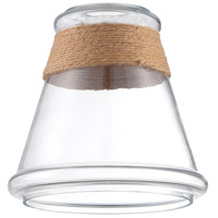 Design-A-Fixture Clear 8 inch Mini Pendant Glass in Clear Glass