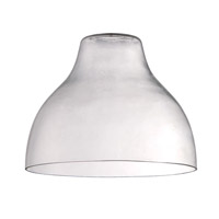 Design-A-Fixture Clear 10 inch Glass in Clear Glass
