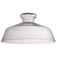 Craftmade N554C Design-a-fixture Clear 12 inch Mini Pendant Glass