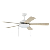 Craftmade NIK52W5 Nikia 52 inch White Indoor-Outdoor Ceiling Fan