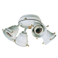 Craftmade Universal Fitter 4 Light Light Kit in White OF400CFL-W