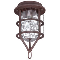 Craftmade Universal Cage 1 Light Outdoor Fan Light Kit in Rustic Iron OLK200CFL-RI