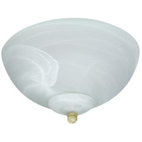 Signature LED Alabaster Outdoor Fan Bowl Light Kit in Alabaster Glass, Bowl