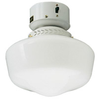 Craftmade Schoolhouse Bowl 1 Light Light Kit in White OLK3CFL-W