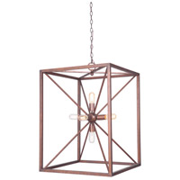Craftmade P630PR6 Signature 6 Light 17 inch Peruvian Bronze Pendant Ceiling Light Jeremiah
