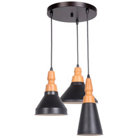 P765MBK3 Craftmade Craftmade 3 Light 16 inch Matte Black Mini Pendant Ceiling Light
