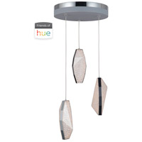 Craftmade P770CH3-HUE Signature LED 11 inch Chrome Mini Pendant Ceiling Light in Hue