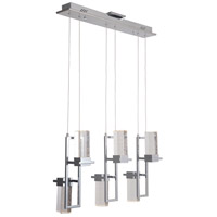 Craftmade P782CH6-LED Signature LED 28 inch Chrome Linear Pendant Ceiling Light