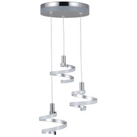 Craftmade P815MSCH3-HUE Hue LED 19 inch Matte Silver/Chrome Mini Pendant Ceiling Light in Matte Silver and Chrome