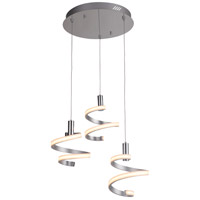 Craftmade P815MSCH3-LED Signature LED 19 inch Matte Silver and Chrome Mini Pendant Ceiling Light