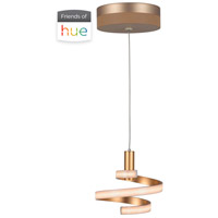 Craftmade P816MG-HUE Signature LED 8 inch Matte Gold Mini Pendant Ceiling Light in Mercury Hue