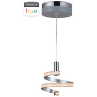 Craftmade P816MSCH-HUE Signature LED 8 inch Matte Silver and Chrome Mini Pendant Ceiling Light in Hue