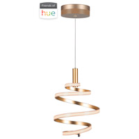 Craftmade P817MG-HUE Signature LED 14 inch Matte Gold Mini Pendant Ceiling Light in Mercury Hue