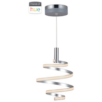 Craftmade P817MSCH-HUE Signature LED 14 inch Matte Silver and Chrome Mini Pendant Ceiling Light in Hue