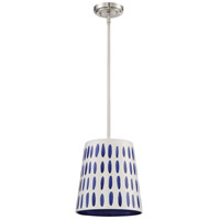 Craftmade P880BNK1 Signature 1 Light 10 inch Brushed Polished Nickel Mini Pendant Ceiling Light