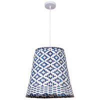 Craftmade P910W1 Woven 1 Light 18 inch White Pendant Ceiling Light