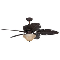 Pineapple 52 inch Aged Bronze with ABZ Leaf Shape ABS Blades Outdoor Ceiling Fan