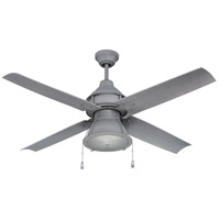 Craftmade Port Arbor 1 Light Outdoor Ceiling Fan with Blades Included in Aged Galvanized PAR52AGV4