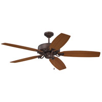 Craftmade PAT64ABZC5 Patterson 64 inch Aged Bronze Highlight with Reversible Walnut and Teak Blades Ceiling Fan