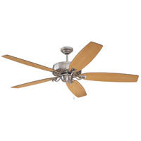 Craftmade PAT64BNK5 Patterson 64 inch Brushed Polished Nickel with Reversible Walnut and Maple Blades Ceiling Fan