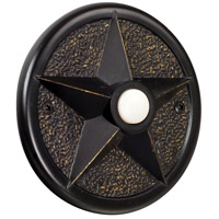 Craftmade Teiber Star Surface Mount LED Lighted Pushbutton in Antique Bronze PB3036-AZ