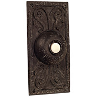 Designer Weathered Black Lighted Push Button