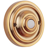 Craftmade PB3039-SB Medallion Satin Brass Push Button