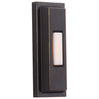 Craftmade PB5005-AZ Stepped Rectangle Aged Bronze Textured Push Button