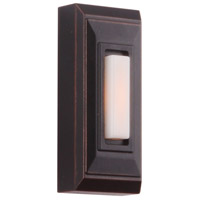 Craftmade PB5007-OBG Stepped Rectangle Oiled Bronze Gilded Push Button