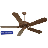 Craftmade K10170 Porch Fan 52 inch Rustic Iron with Brown Blades Outdoor Ceiling Fan With Blades Included in 52