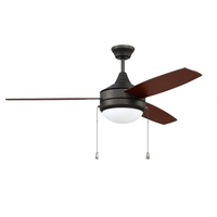 Craftmade PHA52ESP3 Phaze 52 inch Espresso with Espresso/Walnut Blades Ceiling Fan