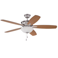 Penbrooke 52 inch Brushed Polished Nickel with Dark Walnut Blades Ceiling Fan with Blades Included