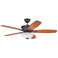 Penbrooke 52 inch Espresso with Cherry and Walnut Blades Indoor Ceiling Fan