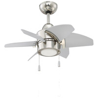Craftmade PPL24PLN6 Propel 24 inch Polished Nickel with Brushed Nickel Blades Ceiling Fan, Blades Included