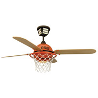 Craftmade PS52BB4 Prostar Basketball 52 inch ProStar Basketball with Basketball Court Blades Ceiling Fan in Matte Opal Glass Blades Included