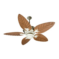 Craftmade K10249 Pavilion 52 inch Antique White Distressed with Light Oak Blades Ceiling Fan With Blades Included in ABS Blades, Outdoor Tropic