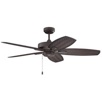 Craftmade RET52BR5 Retreat 52 inch Brown with Woven Outdoor Brown Blades Indoor/Outdoor Ceiling Fan