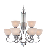 Craftmade 25329-SN Raleigh 9 Light 31 inch Satin Nickel Chandelier Ceiling Light in Faux Alabaster Glass alternative photo thumbnail