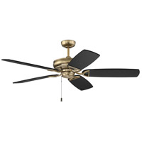 Craftmade SAP56SB5 Supreme Air DC 56 inch Satin Brass with Flat Black/Black Walnut Blades Indoor/Outdoor Ceiling Fan