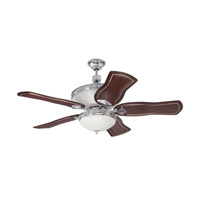 Saratoga 52 inch Chrome with Walnut Blades Ceiling Fan