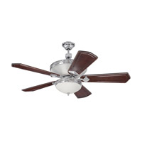 Saratoga 52 inch Chrome with Walnut and Vintage Madera Blades Ceiling Fan