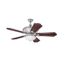 Saratoga 52 inch Chrome with Classic Walnut and Vintage Madera Blades Ceiling Fan