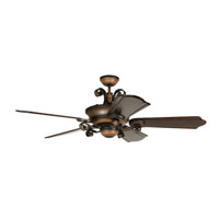 Craftmade K11254 Seville Espana 56 inch Spanish Bronze with Classic Ebony Blades Ceiling Fan Kit, Blades Included