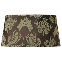 Design & Combine Brown Damask 20 inch Shade in Brown Damask Shade