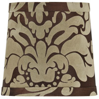 Design & Combine Brown Damask 6 inch Clip Shade in Brown Damask Shade