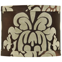 Design & Combine Brown Damask 6 inch Mini Drum Shade in Brown Damask Shade